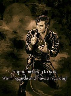 Elvis Presley Birthday Card