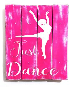 Dance Decor Dance Art Dance Sign Dance Wall by TamieMarieDesign Typography Art, Vinyl Lettering, Ballet Room, Ballerina Bedroom, Ballerina Art, Dance Crafts, Dance Rooms, Dance Decorations, Inspirational Signs