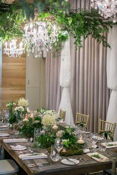 Garden inspired wedding table