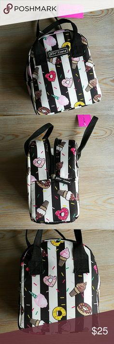 Betsey Johnson Sweet Treats Lunch Bag NWT Insulated lunch bag/ tote covered in donuts and ice cream. So cute! It measures approx. 10x8x5 inches as shown. Adorable!!  Feel free to offer what you can  Betsey Johnson Bags Travel Bags
