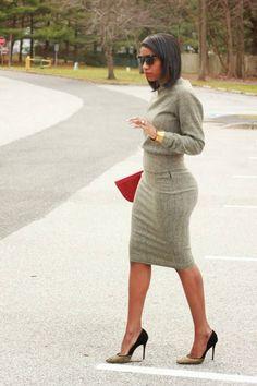 DIY herringbone pencil skirt and sweatshirt – Beaute' J'adore