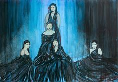 Claire Tabouret, The Debutante (Midnight Blue), 2014, Acrylic on canvas,