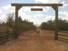 hill country fence ideas | Custom Gates & Entrys