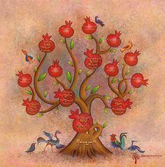 Armenian Family Tree #armenia #pomegranate