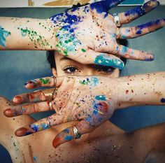 Senior pictures ideas for girls with paint. Paint senior picture ideas. Paint…