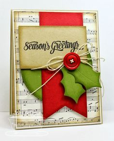 Featuring: Cheerful Christmas and Sheet Music Background!