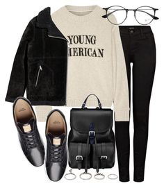 """""""Untitled #21013"""" by florencia95 ❤ liked on Polyvore featuring Forever 21, J Brand, The Elder Statesman, Aspinal of London, H&M and Ray-Ban"""