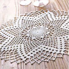 Free Crochet Doily Patterns, Crochet Placemats, Crochet Doily Diagram, Crochet Symbols, Crochet Lace Edging, Free Pattern, Lace Doilies, Crochet Doilies, Japanese Crochet