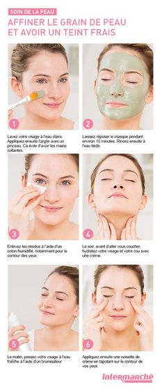Les propriétés de l'argile verte sont idéales pour affiner votre grain de p… The properties of green clay are ideal for refining your skin texture. Discover how to have a fresh complexion with this tutorial! Beauty Tips For Face, Beauty Box, Beauty Secrets, Beauty Care, Diy Beauty, Beauty Makeup, Beauty Hacks, Green Clay, Belleza Natural