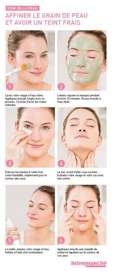 Les propriétés de l'argile verte sont idéales pour affiner votre grain de peau…