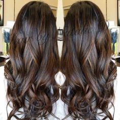 Image result for caramel balayage on black hair