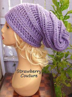 Amethyst Purple Crochet Hat Womens Hat Slouchy Hat Slouchy Beanie Hat Purple Hat HAPPY SNAIL Crochet Slouchy Beanie Hat Crochet Hat by strawberrycouture by #strawberrycouture on #Etsy