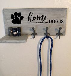 Customized Dog Leash Wall Mount & Holder Customized Dog Leash Wall Mount & Holder This Customized Dog Leash Wall Mount & Holder is just one of the custom, handmade pieces you& find in our pet storage shops. Rope Dog Leash, Dog Leash Holder, Stuffed Animal Storage, Dog Rooms, Dog Crafts, Dog Signs, Dog Supplies, Dog Accessories, Wood Projects