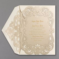 Fancy That - Invitation with Laser Liner | Carlson Craft Wedding & Stationery Products