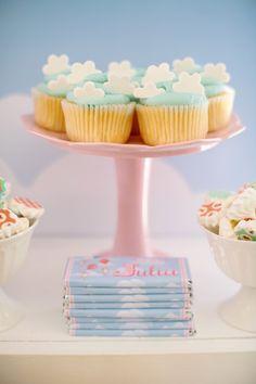 Cupcakes & Chocolate Bars from a Belle & Boo Bunny + Hot Air Balloon Party via Kara's Party Ideas   KarasPartyIdeas.com (32)