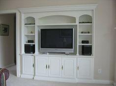 Custom Made Maple Media Built-In/Bookcase