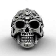 Punk Skull Biker Rings for Men Classic Cool Skull Harley Jewelry