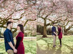 Sophie Evans Photography, Alice & Nathanael Blossom Filled Botanical Gardens Engagement Shoot.