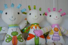 PDF sewing pattern soft toy Stuffed doll Plushie por GEESPROJECTS