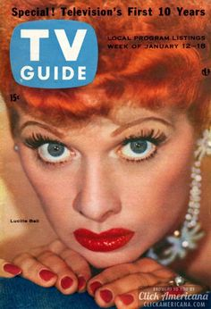 Lucille Ball magazine covers from the '50s