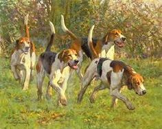 Image result for oil painting + hounds on the scent