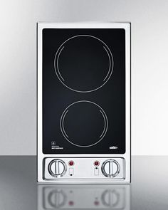 Wundervoll 2 Burner 120V Electric Cooktop With Smooth Black Ceramic CR2B120