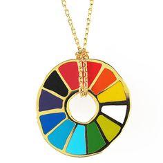 Little Otsu — Color Wheel Pendant by Yellow Owl Workshop