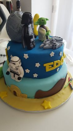 Star wars birthday cake Star Wars Birthday Cake, Lego, Birthdays, Desserts, Food, Anniversaries, Tailgate Desserts, Deserts, Essen