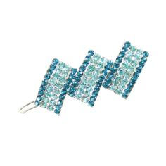 Elegance Turquoise and Aqua Austrian Crystal Hair Clip