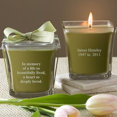Personalized Memorial Candles - In Memory - Customer Reviews