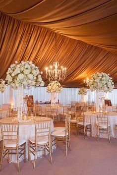 gold tent + chandeliers @ivyrobinson @corbin