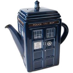 I want one. But I'm afraid if I get it, I'll start collecting weird teapots that relate to my different interests.