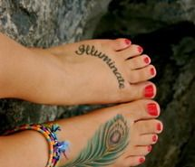 bracelets, feet, nails, nature, red (Full Size)