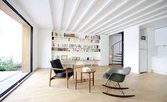 Plus belles maisons de paris : projet de Noël Dominguez Architecte vue du salon