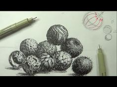 Pen & Ink Drawing Tutorials | How to create realistic textures (Part 3) - YouTube