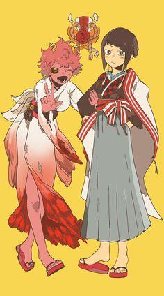 Boku no Hero Academia || Ashido Mina, Kyouka Jirou.