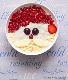 Une recette de petit-déjeuner pour les enfants, complet et riche en couleurs : de l'avoine et des fruits !