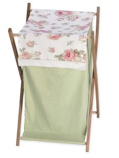 Clothes Hamper for Rileys Roses Shabby Chic Baby/Kids Bedding Sets #KidsRoom #BotiqueBedding