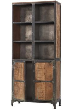 Living Room Storage With Doors - Best Bathroom Storage Cabinets for Wall and Floor That Will Help You Reclaimed Wood Furniture, Steel Furniture, Industrial Furniture, Cool Furniture, Industrial Boys Rooms, Reclaimed Wood Bookcase, System Furniture, Rustic Industrial, Furniture Plans