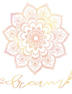 We celebrate #MotivationMonday with FREE Mandala Dream Printable Watercolor Art and a chat with Brown Gal Trekker, Marinel. Get inspired to reach your dream