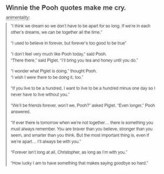 Winnie the Pooh sad quotes Sad Winnie the Pooh quotes Poem Quotes, Cute Quotes, Sad Quotes, Great Quotes, Inspirational Quotes, Qoutes, Pretty Words, Beautiful Words, I Used To Believe
