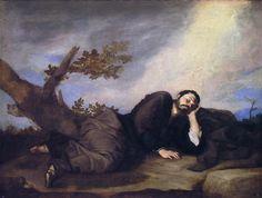 Jusepe de Ribera - Sen Jakuba, Prado, olej na płótnie Jacob Jacob, Online Gallery, Art Gallery, Rivera, Jacob's Ladder, Wooden Ladder, Spanish Painters, Old Testament, Fine Art