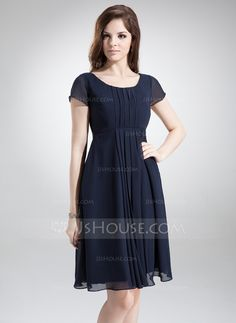 Bridesmaid Dresses - $99.99 - A-Line/Princess Scoop Neck Knee-Length Chiffon Bridesmaid Dress With Ruffle (007020655) http://jjshouse.com/A-Line-Princess-Scoop-Neck-Knee-Length-Chiffon-Bridesmaid-Dress-With-Ruffle-007020655-g20655?ver=0wdkv5eh