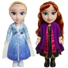 Disney Frozen 2 Princess Anna and Elsa Sister Interactive Feature Doll 2 pack - Walmart Exclusive Disney Princess Dolls, Princess Anna, Disney Dolls, Princess Toys, Elsa And Anna Dolls, Anna Und Elsa, Toys R Us, Elsa Sister, Sisters