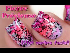 Aujourd'hui un nail art assez girly, et qui dit girly dit …Rose bien-sur!!! :D Un effet un pierre précieuse ou marbré! La vidéo tuto est sur le blog et YouTube !