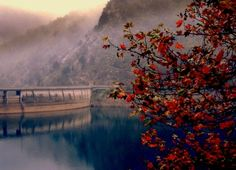 Plastira's artificial lake - The barrier (Karditsa - Greece) Beautiful Places, Amazing Places, Planet Earth, Travel Around, The Good Place, Greece, Landscape, Rivers, World