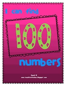 Teach it With Class: I can find 100 numbers!