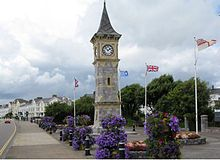 The clock tower on the seafront