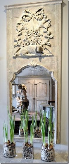 trumeau i want a huge mirror this color Shabby, Trumeau Mirror, Mirror Mirror, French Mirror, Mirror Paper, Vintage Mirrors, Beautiful Mirrors, French Country House, Through The Looking Glass
