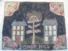 1846 Bishop Hill Hooked rug by Janice Johnson